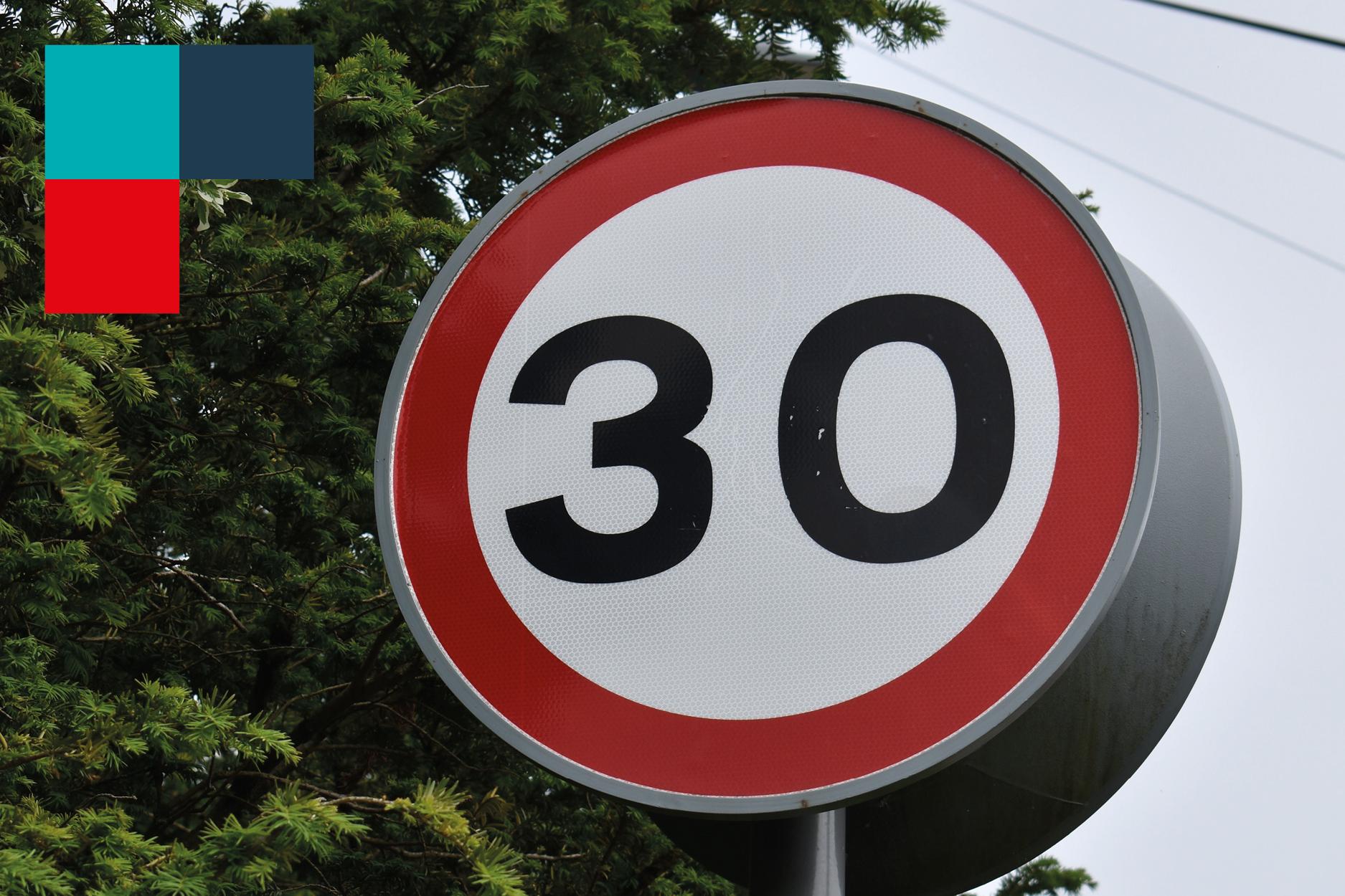 Read more about the article Tempo 30 und Geschwindigkeitsmesstafel