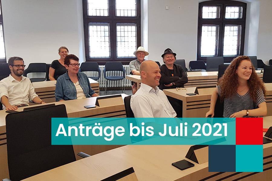 Read more about the article SPD/Kulturlisten Anträge bis Juli 2021